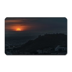 Sunset Scene Landscape Aerial View In Guayaquil From Cerro Del Carmen Magnet (rectangular) by dflcprints