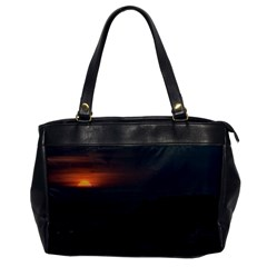 Sunset Scene Landscape Aerial View In Guayaquil From Cerro Del Carmen Office Handbags by dflcprints