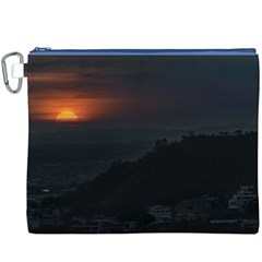 Sunset Scene Landscape Aerial View In Guayaquil From Cerro Del Carmen Canvas Cosmetic Bag (xxxl)  by dflcprints
