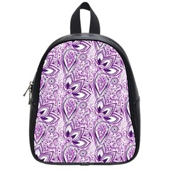 Purple Paisley Doodle School Bags (Small)  by KirstenStar