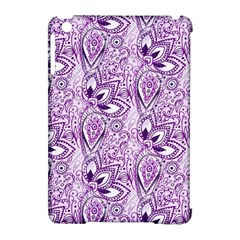 Purple Paisley Doodle Apple iPad Mini Hardshell Case (Compatible with Smart Cover) by KirstenStar