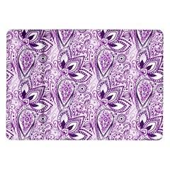 Purple Paisley Doodle Samsung Galaxy Tab 10 1  P7500 Flip Case by KirstenStar