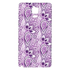 Purple Paisley Doodle Galaxy Note 4 Back Case by KirstenStar