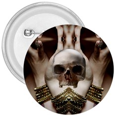Skull Magic 3  Buttons by icarusismartdesigns