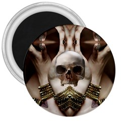 Skull Magic 3  Magnets by icarusismartdesigns