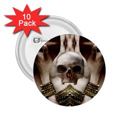 Skull Magic 2 25  Buttons (10 Pack)  by icarusismartdesigns