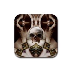 Skull Magic Rubber Square Coaster (4 Pack)  by icarusismartdesigns