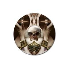 Skull Magic Magnet 3  (round) by icarusismartdesigns