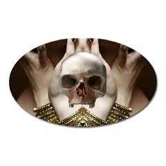 Skull Magic Oval Magnet by icarusismartdesigns