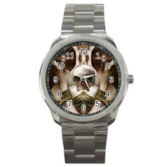 Skull Magic Sport Metal Watch by icarusismartdesigns