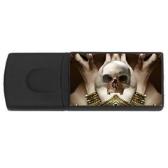 Skull Magic Usb Flash Drive Rectangular (4 Gb)  by icarusismartdesigns
