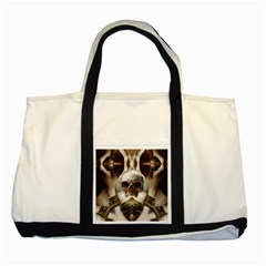 Skull Magic Two Tone Tote Bag by icarusismartdesigns