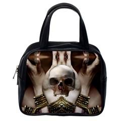 Skull Magic Classic Handbags (one Side) by icarusismartdesigns