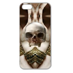 Skull Magic Apple Seamless Iphone 5 Case (clear) by icarusismartdesigns