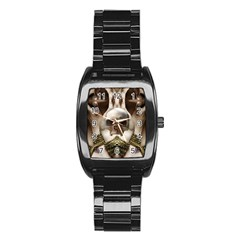 Skull Magic Stainless Steel Barrel Watch by icarusismartdesigns