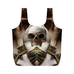 Skull Magic Full Print Recycle Bags (m)  by icarusismartdesigns