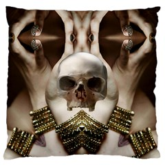 Skull Magic Large Flano Cushion Case (two Sides) by icarusismartdesigns