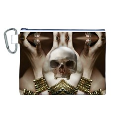 Skull Magic Canvas Cosmetic Bag (l) by icarusismartdesigns