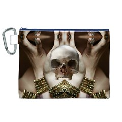 Skull Magic Canvas Cosmetic Bag (xl)  by icarusismartdesigns