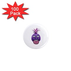 Funny Fruit Face Head Character 1  Mini Magnets (100 Pack)  by dflcprints