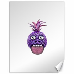 Funny Fruit Face Head Character Canvas 18  X 24   by dflcprints