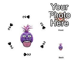 Funny Fruit Face Head Character Playing Cards 54 (round)  by dflcprints
