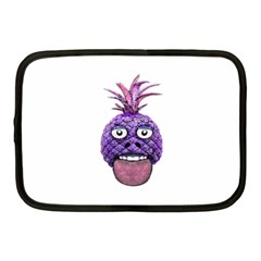 Funny Fruit Face Head Character Netbook Case (medium)  by dflcprints
