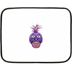 Funny Fruit Face Head Character Double Sided Fleece Blanket (mini)  by dflcprints