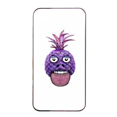 Funny Fruit Face Head Character Apple Iphone 4/4s Seamless Case (black) by dflcprints