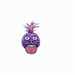 Funny Fruit Face Head Character Small Garden Flag (two Sides) by dflcprints