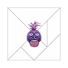 Funny Fruit Face Head Character Acrylic Tangram Puzzle (6  X 6 ) by dflcprints