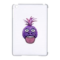 Funny Fruit Face Head Character Apple Ipad Mini Hardshell Case (compatible With Smart Cover) by dflcprints