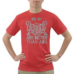 BEARDS BETTER ABS GRAY Men s T-shirt (Colored) by FNCYCO