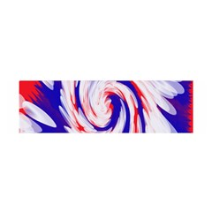 Groovy Red White Blue Swirl Satin Scarf (oblong) by BrightVibesDesign