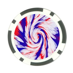Groovy Red White Blue Swirl Poker Chip Card Guards (10 Pack)  by BrightVibesDesign
