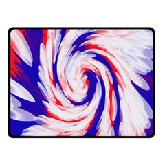 Groovy Red White Blue Swirl Fleece Blanket (small) by BrightVibesDesign