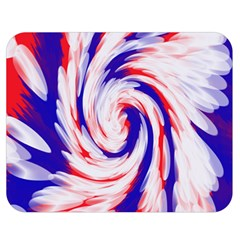 Groovy Red White Blue Swirl Double Sided Flano Blanket (medium)  by BrightVibesDesign