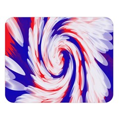 Groovy Red White Blue Swirl Double Sided Flano Blanket (large)  by BrightVibesDesign
