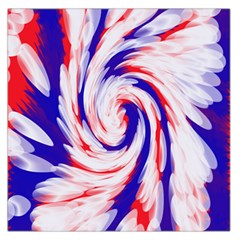 Groovy Red White Blue Swirl Large Satin Scarf (square) by BrightVibesDesign