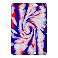 Groovy Red White Blue Swirl Kindle Fire Hdx 8 9  Hardshell Case by BrightVibesDesign