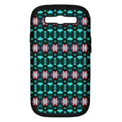Fancy Teal Red Pattern Samsung Galaxy S Iii Hardshell Case (pc+silicone) by BrightVibesDesign