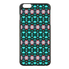 Fancy Teal Red Pattern Apple Iphone 6 Plus/6s Plus Black Enamel Case by BrightVibesDesign