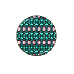 Fancy Teal Red Pattern Hat Clip Ball Marker (10 Pack) by BrightVibesDesign