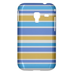 Blue Yellow Stripes Samsung Galaxy Ace Plus S7500 Hardshell Case by BrightVibesDesign