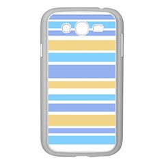 Blue Yellow Stripes Samsung Galaxy Grand Duos I9082 Case (white) by BrightVibesDesign