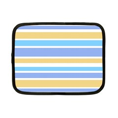 Blue Yellow Stripes Netbook Case (small)  by BrightVibesDesign