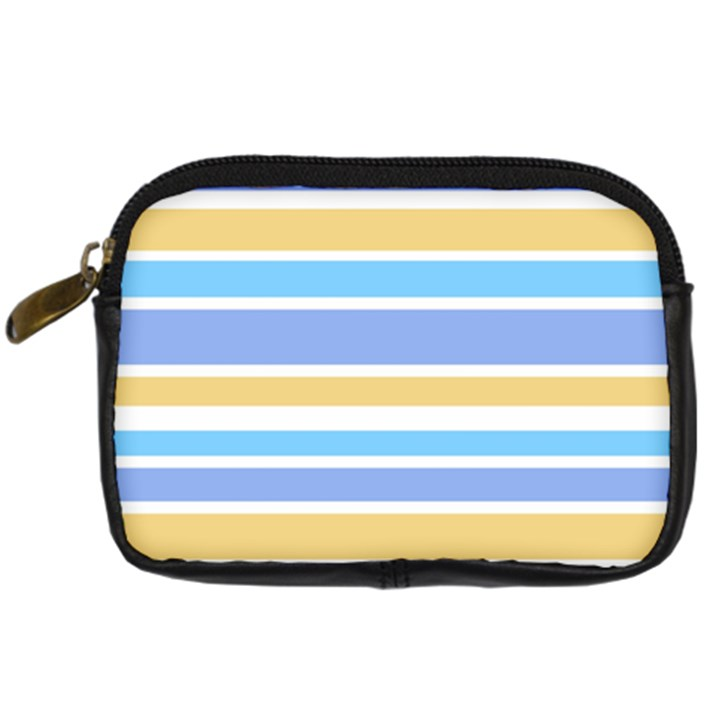 Blue Yellow Stripes Digital Camera Cases