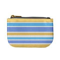Blue Yellow Stripes Mini Coin Purses by BrightVibesDesign