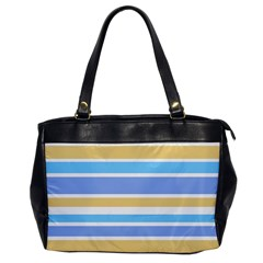Blue Yellow Stripes Office Handbags by BrightVibesDesign