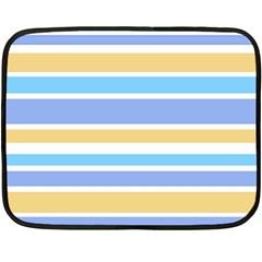 Blue Yellow Stripes Fleece Blanket (mini) by BrightVibesDesign